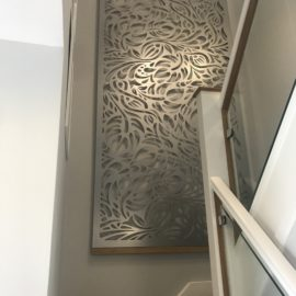 Stair wall metal screen - Silver Babylon - Decori