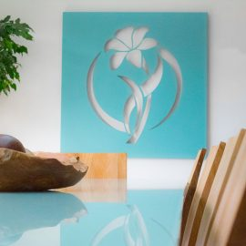teal art work decori