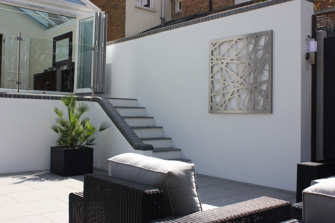 Large square Linework for a modern contemporary garden
