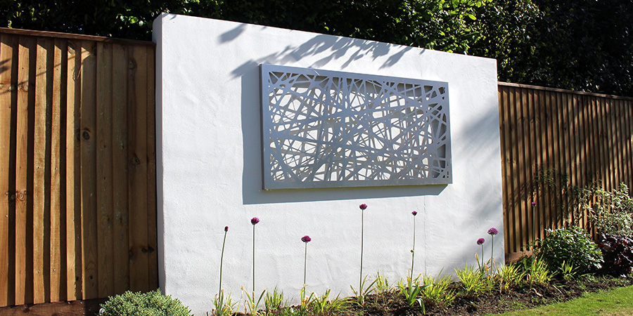 Neil jones design - Stainless steel linework design by Decori